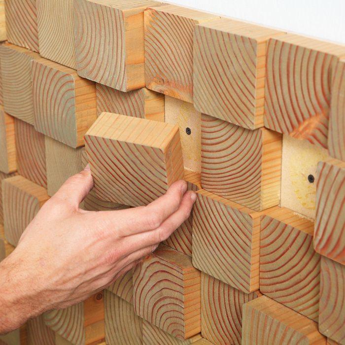 Декор стен фанерой